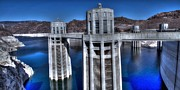 Lake Photos - Lake Mead Hoover Dam by Jonathan Davison