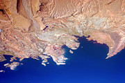 Photography Abstracts Prints - Lake Mead Shores NV PLANET eARTh Print by James Bo Insogna