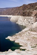 Desert Lake Posters - Lake Mead With Depressed Water Level Poster by Mark Williamson