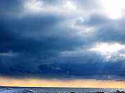 Sun Rays Painting Prints - Lake Michigan Sky Print by Andrew Jagniecki