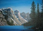 Canada Paintings - Lake Moraine by Shirley Braithwaite Hunt