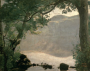 Picturesque Posters - Lake Nemi Poster by Jean Baptiste Camille Corot