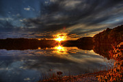 Lake Of The Woods Sunset I Print by Megan Noble