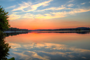 """reflection Photographs"" Posters - Lake Ontelaunee Sunset 03 Poster by Don Valentine"
