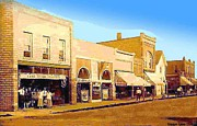 Lake Orion Paintings - Lake Orion Mi Vaudeville Theatre 1919 by Dwight Goss