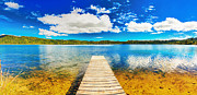 Jetty View Park Prints - Lake panorama Print by MotHaiBaPhoto Prints
