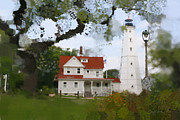 Wahl Prints - Lake Park Lighthouse Print by Geoff Strehlow