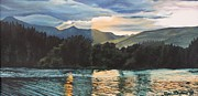 North Cascades Painting Posters - Lake Pearrygin Poster by Terri Thompson