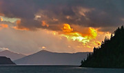Lake Pend Oreille Prints - Lake Pend Oreille Storm Clouds Print by Brent Sisson