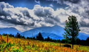 Mountain Scene Prints - Lake Placid Clouds Print by Emily Stauring