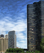 Chicago Skyline Photos - Lake Point Tower Chicago  IL by Tony Grider
