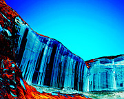 Lake Powell Prints - Lake Powell Blue Ice Print by Rebecca Margraf