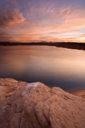 Desert Metal Prints - Lake Powell Dawn Metal Print by Mike  Dawson
