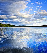 Horizon Metal Prints - Lake reflecting sky Metal Print by Elena Elisseeva