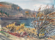 Plein Air Originals - Lake Roosevelt by Donald Maier