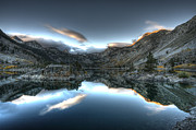 High Sierra Metal Prints - Lake Sabrina Bishop Ca Metal Print by Joe  Palermo