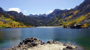 Hwy 168 Framed Prints - Lake Sabrina in Fall Colors Framed Print by Frank Lee Hawkins Eastern Sierra Gallery