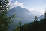 Scenic Overlooks Prints - Lake Segl In The Engadin Valley Print by Taylor S. Kennedy