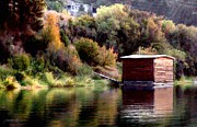 Montana Digital Art - Lake Shed by Jim Pavelle