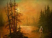Haunted  Paintings - Lake Spirit by Tom Shropshire