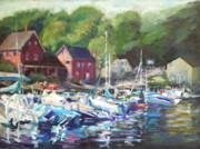 New Hampshire Artist Posters - Lake Sunapee Harbor Poster by B Rossitto