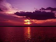 """sunset Photography"" Prints - Lake Sunset Print by Evelyn Patrick"
