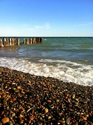 Pilings Prints - Lake Superior at Whitefish Point Print by Michelle Calkins