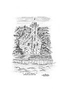 Lakes Drawings - Lake Superior Lighthouse. by Bob Garrison