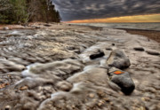 Coastline Digital Art - Lake Superior Northern Michigan  by Mark Duffy