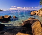 Lake Tahoe Framed Prints - Lake Tahoe Cove Framed Print by Vance Fox