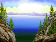 Lake Tahoe Paintings - Lake Tahoe by Frank Wilson