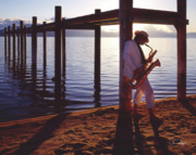 Lake Tahoe Sax Print by Vance Fox