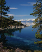 Scenic Framed Prints - Lake Tahoe Smooth Framed Print by Vance Fox
