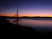 Lake Framed Prints - Lake Tahoe Sunset Gradient Framed Print by Scott McGuire