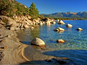 Lake Metal Prints - Lake Tahoe Tranquility Metal Print by Scott McGuire
