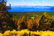 Impressionist Art Digital Art Prints - Lake Tahoe Print by Wingsdomain Art and Photography