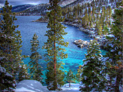 Lake Framed Prints - Lake Tahoe Winterscape Framed Print by Scott McGuire