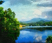 Lake Tahoma In Marion Nc Print by Elizabeth Coats