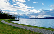 Yurix Prints - Lake Taupo Print by Yurix Sardinelly