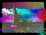 Nautical Digital Art - Lake Union Sail 2 by Tim Allen