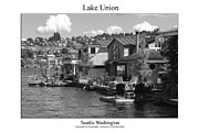 Space Needle Photographs Posters - Lake Union Poster by William Jones