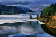 Wales Digital Art - Lake Vyrnwy by Paul Marcello
