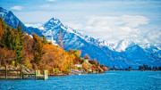 Nz Prints - Lake Wakatipu Print by Barry Teutenberg