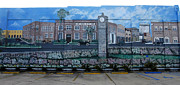 Mural Photos - Lake Wales Florida Mural by David Lee Thompson