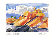 Watson Lake Paintings - Lake Watson Prescott AZ by Annie Alexander