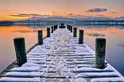 Cold Temperature Art - Lake Windermere At Sunset by Bhawika Nana Photography