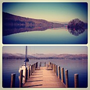Manc Prints - Lake Windermere #manc #manchester Print by Conor Duffy