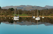 Lake Windermere Yachts Print by John D Hare