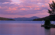 New Hampshire Lakes Framed Prints - Lake Winnipesaukee Evening Framed Print by John Burk