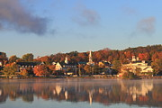 Meredith Framed Prints - Lake Winnipesaukee Meredith Autumn Morning Framed Print by John Burk